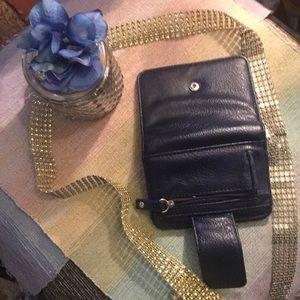new wallet/ navy/ tri-fold/ ROXY/ women's/ 🌸